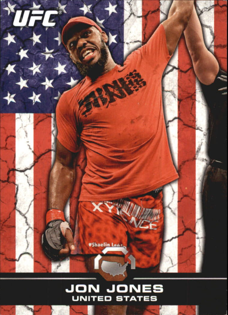 2013 Topps UFC Bloodlines Flag Parallel #81 Jon Jones