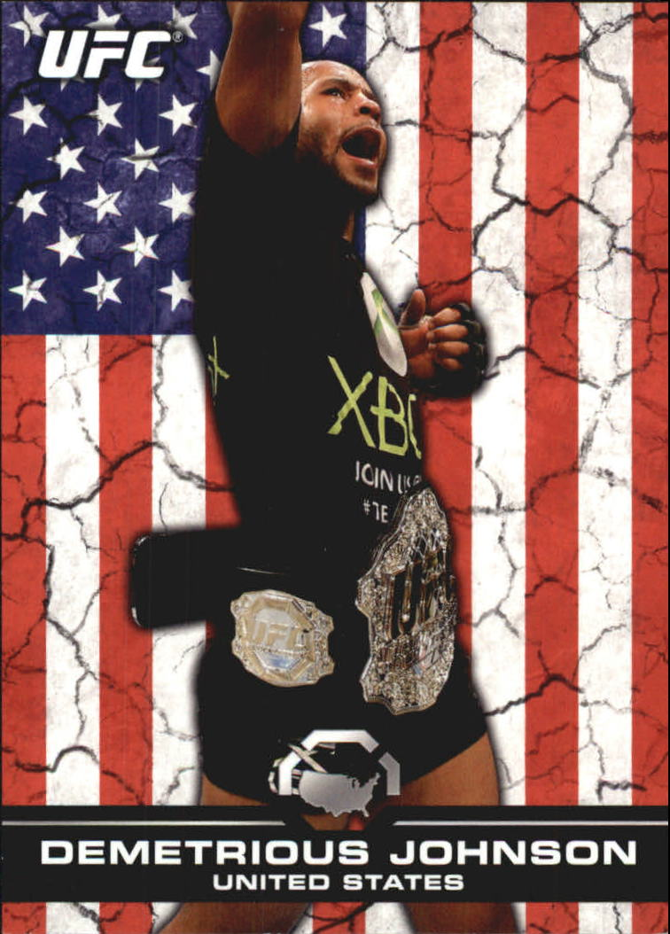 2013 Topps UFC Bloodlines Flag Parallel #135 Demetrious Johnson