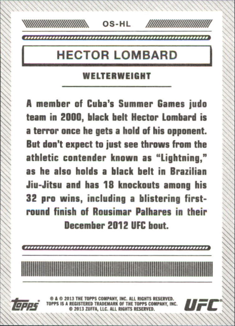 2013 Topps UFC Bloodlines Octagon-Side #OSHL Hector Lombard
