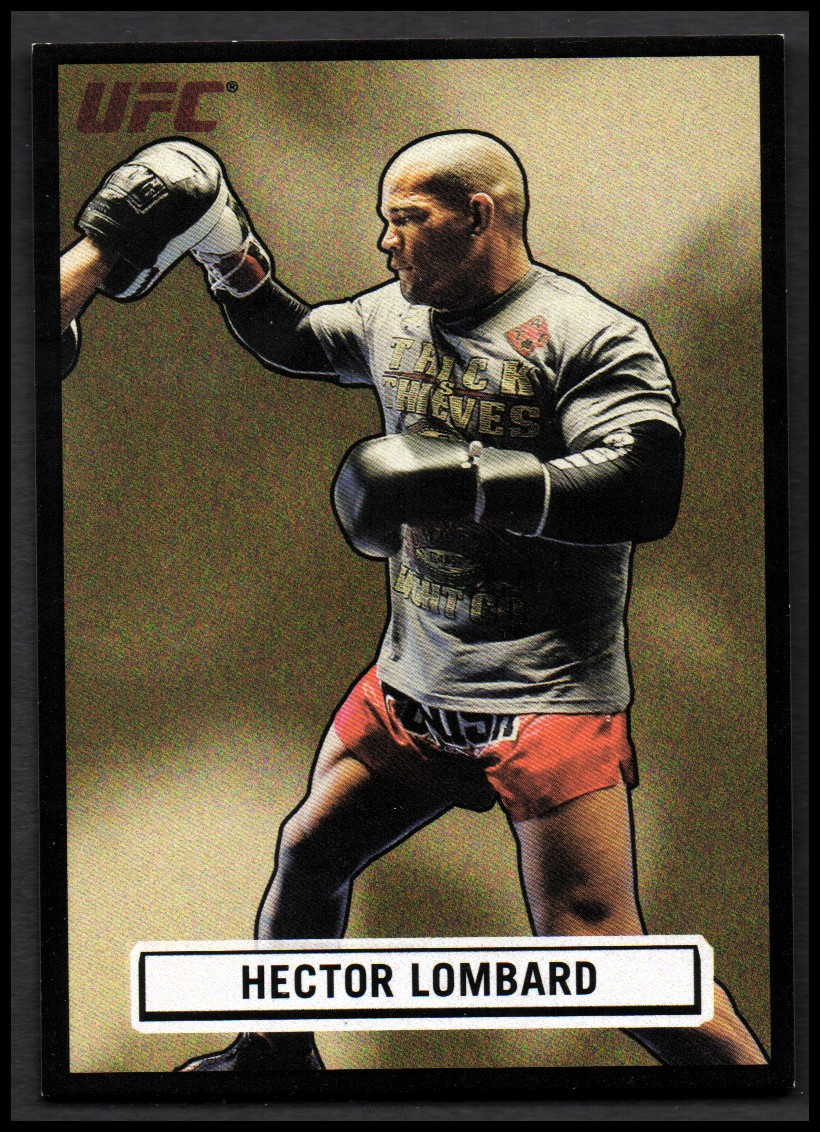 2013 Topps UFC Bloodlines Octagon-Side Black #OSHL Hector Lombard