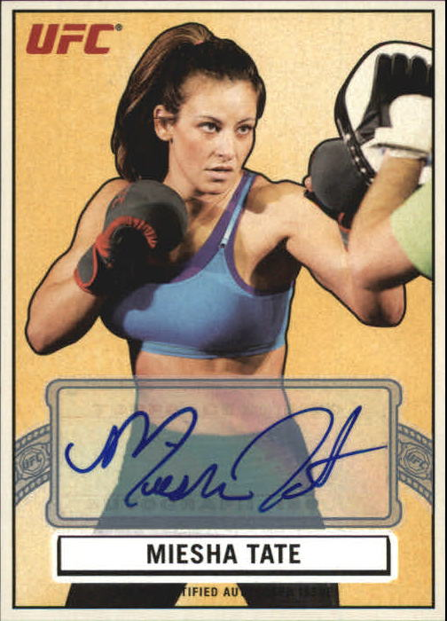 2013 Topps UFC Bloodlines Octagon-Side Autographs #AOSMT Miesha Tate