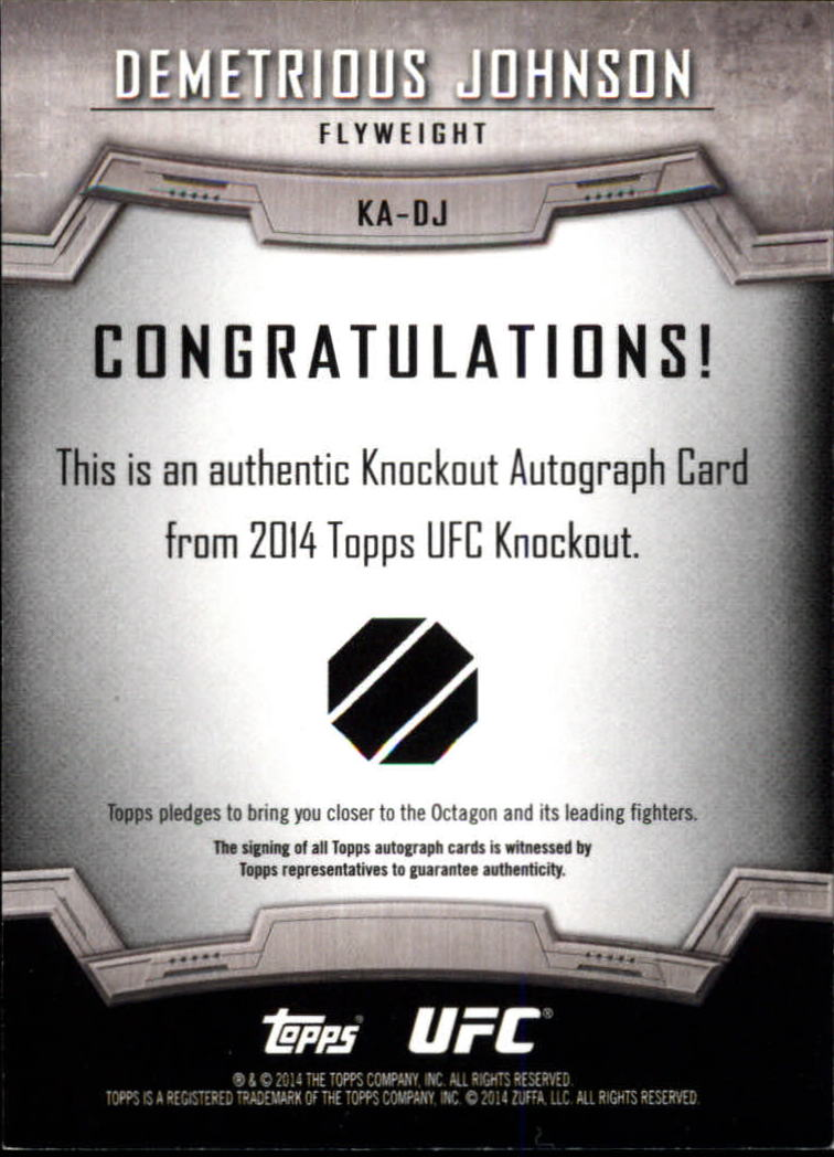 2014 Topps UFC Knockout Autographs #KADJ Demetrious Johnson/149