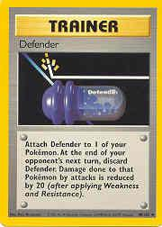 1999 Pokemon Base Unlimited #80  Defender (U)