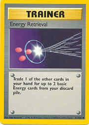 1999 Pokemon Base Unlimited #81  Energy Retrieval (U)