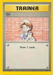 1999 Pokemon Base Unlimited #91  Bill (C)