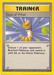 1999 Pokemon Base Unlimited #93  Gust of Wind (C)