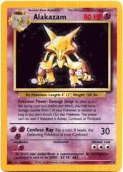 1999 Pokemon Base Unlimited #1 Alakazam (holo) (R)