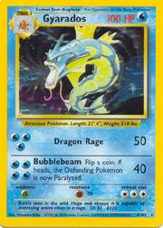 1999 Pokemon Base Unlimited #6 Gyarados (holo) (R)