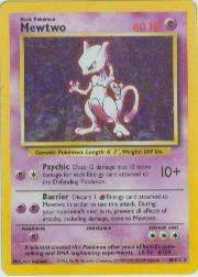 1999 Pokemon Base Unlimited #10 Mewtwo (holo) (R)