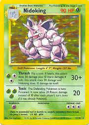 1999 Pokemon Base Unlimited #11 Nidoking (holo) (R)