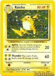 1999 Pokemon Base Unlimited #14 Raichu (holo) (R)