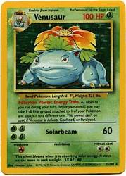1999 Pokemon Base Unlimited #15 Venusaur (holo) (R)