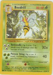 1999 Pokemon Base Unlimited #17  Beedrill (R)