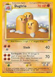 1999 Pokemon Base Unlimited #19  Dugtrio (R)