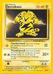 1999 Pokemon Base Unlimited #20  Electabuzz (R)
