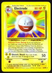 1999 Pokemon Base Unlimited #21  Electrode (R)