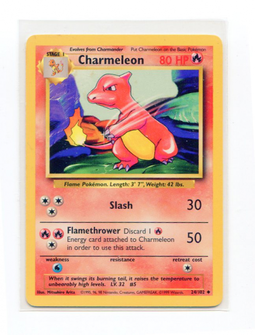 1999 Pokemon Base Unlimited #24  Charmeleon (U)