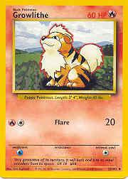 1999 Pokemon Base Unlimited #28  Growlithe (U)