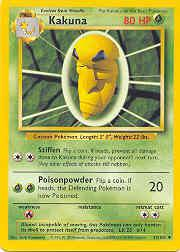 1999 Pokemon Base Unlimited #33 Kakuna (Length/Weight Corr.) (U)