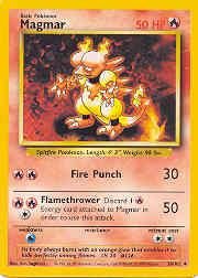 1999 Pokemon Base Unlimited #36  Magmar (U)