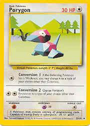 1999 Pokemon Base Unlimited #39  Porygon (U)