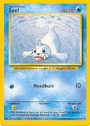 1999 Pokemon Base Unlimited #41  Seel (U)