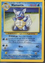 1999 Pokemon Base Unlimited #42  Wartortle (U)