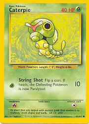 1999 Pokemon Base Unlimited #45  Caterpie (40 HP Corr.) (C)
