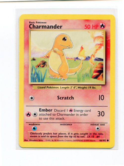 1999 Pokemon Base Unlimited #46  Charmander (C)