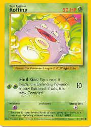 1999 Pokemon Base Unlimited #51  Koffing (C)