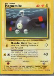 1999 Pokemon Base Unlimited #53  Magnemite (C)