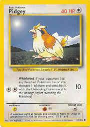 1999 Pokemon Base Unlimited #57  Pidgey (C)