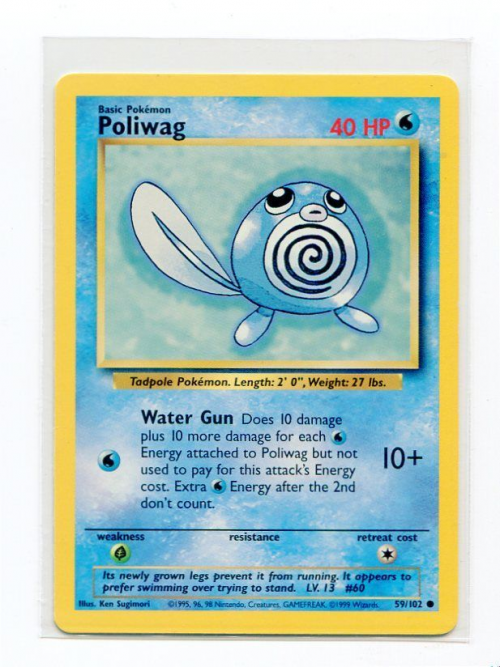 1999 Pokemon Base Unlimited #59  Poliwag (C)