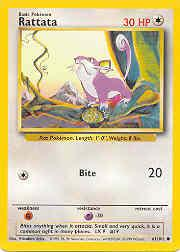 1999 Pokemon Base Unlimited #61  Rattata (C)