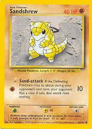 1999 Pokemon Base Unlimited #62  Sandshrew (C)
