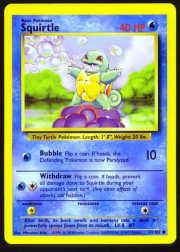 1999 Pokemon Base Unlimited #63  Squirtle (C)