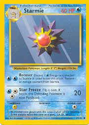 1999 Pokemon Base Unlimited #64  Starmie (C)