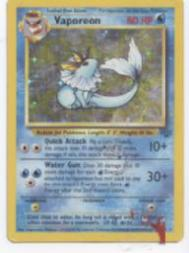 1999 Pokemon Jungle 1st Edition #12 Vaporeon HOLO R
