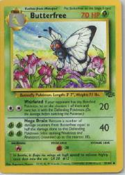1999 Pokemon Jungle 1st Edition #33  Butterfree (1 Edition Corr.) (U)