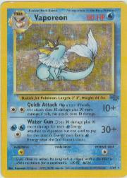 1999 Pokemon Jungle Unlimited #12A Vaporeon HOLO R