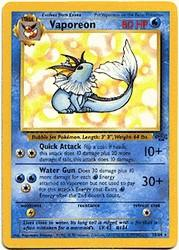 1999 Pokemon Jungle Unlimited #28 Vaporeon R