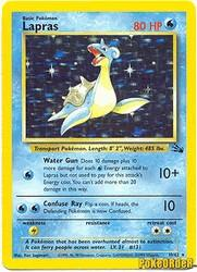 1999 Pokemon Fossil Unlimited #10 Lapras (holo) (R)