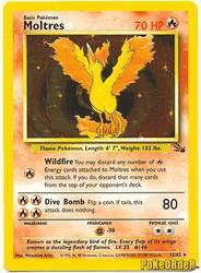 1999 Pokemon Fossil Unlimited #12 Moltres (holo) (R)