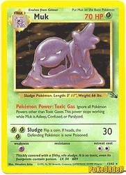 1999 Pokemon Fossil Unlimited #13 Muk (holo) (R)