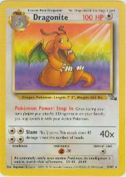 1999 Pokemon Fossil Unlimited #19  Dragonite (R)