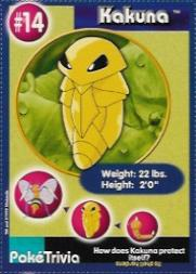 1999 Pokemon Burger King #14  Kakuna