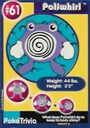 1999 Pokemon Burger King #61  Poliwhirl