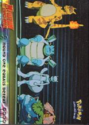 1999 Pokemon: The First Movie - Topps #26  Round one equals defeat