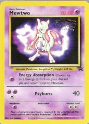 1999-02 Pokemon Promo Star Wizards of the Coast #3  Mewtwo (First Movie)