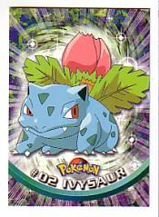 2000 Pokemon TV Animation  Topps #2  Ivysaur